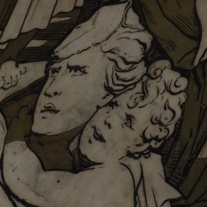 Duomo: pavimento a commessi marmorei part. Beccafumi