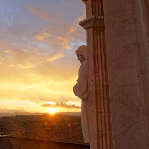 Cathedral - Statues and Sunset