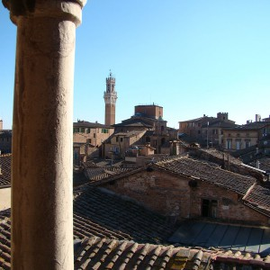 Torre del Mangia and roof tops – View from Suite 7