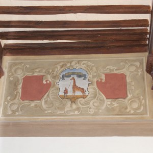 Hotel Palazzetto Rosso -Particolare soffitto affrescato